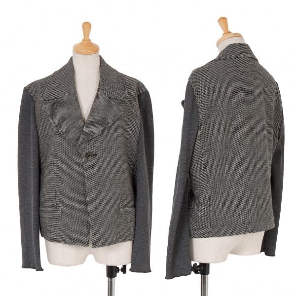 トリコ コムデギャルソンtricot COMME des GARCONS 袖切替ウールジャケット 濃淡グレーM【中古】 【レディース】
