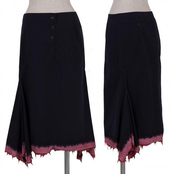 イッセイミヤケISSEY MIYAKE コットン縁染めスカート 紺赤ピンク2【中古】 【レディース】