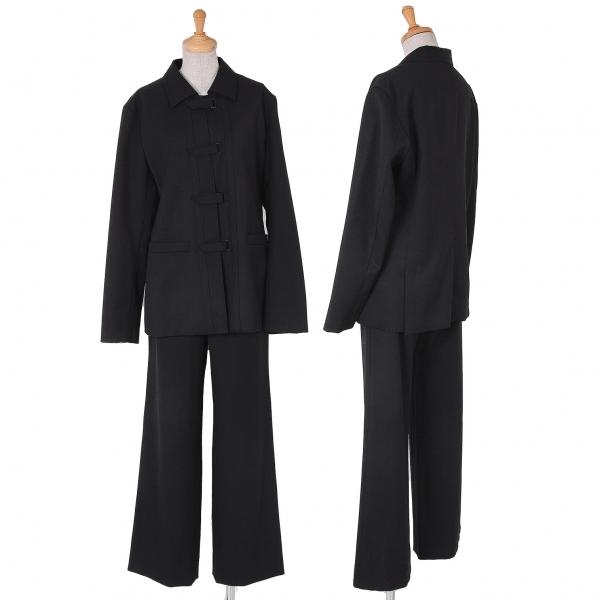 イッセイミヤケISSEY MIYAKE ベルクロチャイナセットアップスーツ 黒3・2【中古】