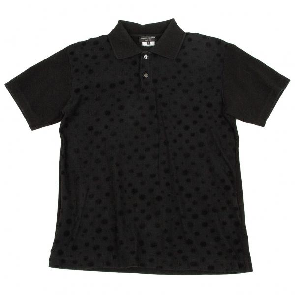 コムデギャルソン オムプリュスCOMME des GARCONS HOMME PLUS ドットフロッキーポロシャツ 黒S【中古】 【メンズ】
