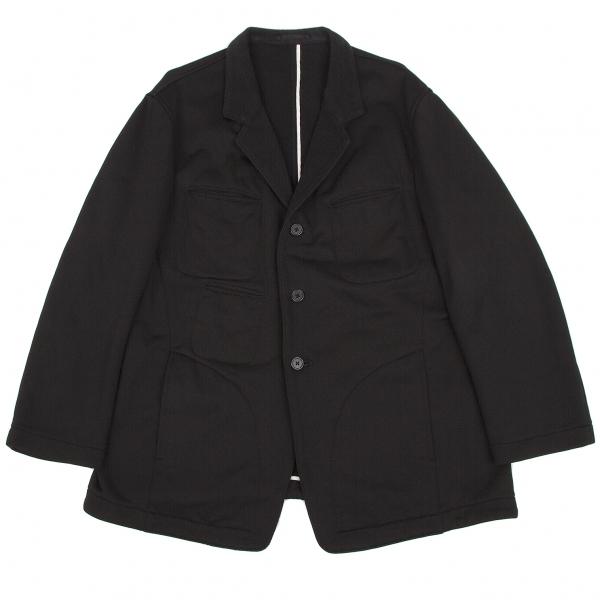 ワイズフォーメンY's for men ポケットデザインジャージテーラードジャケット 黒白S【中古】 【メンズ】