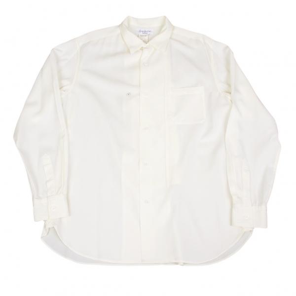 ヨウジヤマモト プールオムYohji Yamamoto POUR HOMME 前立デザインシャツ オフ3【中古】
