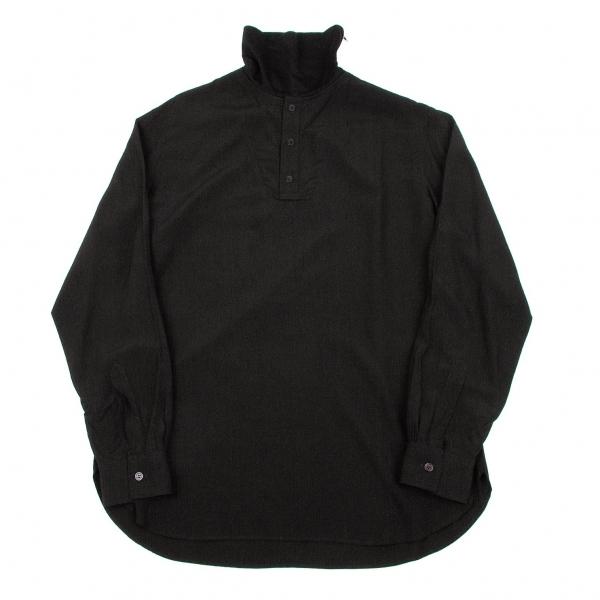 ヨウジヤマモト プールオムYohji Yamamoto POUR HOMME ハイネックデザインプルオーバーシャツ 黒3【中古】 【メンズ】