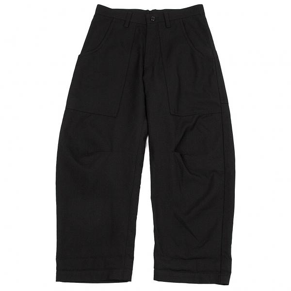 ワイズY's ポケットデザインウールパンツ 黒1【中古】 【レディース】