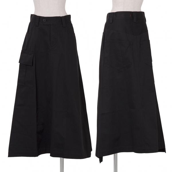 新品!ワイズ レッドレーベルY's red Label コットンギャバAラインスカート 黒2 【レディース】