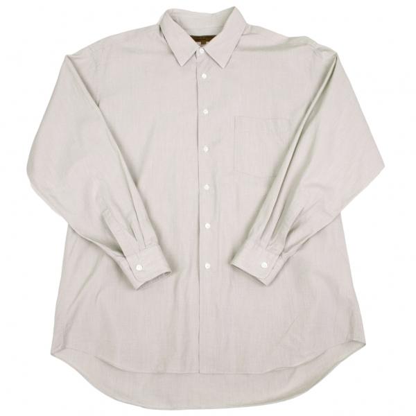 コムデギャルソン オムドゥCOMME des GARCONS HOMME DEUX コットンベーシックシャツ ベージュ サンドベージュL【中古】 【メンズ】