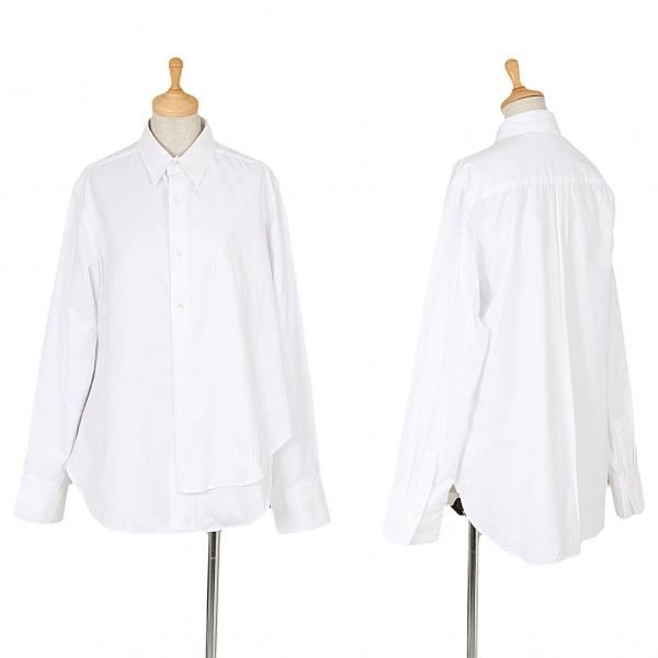 ワイズY's 左身頃二枚仕立てシャツ 白2【中古】 【レディース】