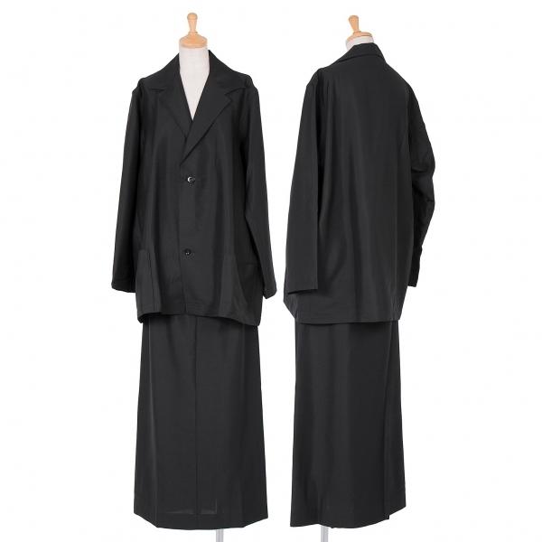 ワイズY's サマーモヘヤウールビッグシルエットセットアップスーツ 黒3【中古】