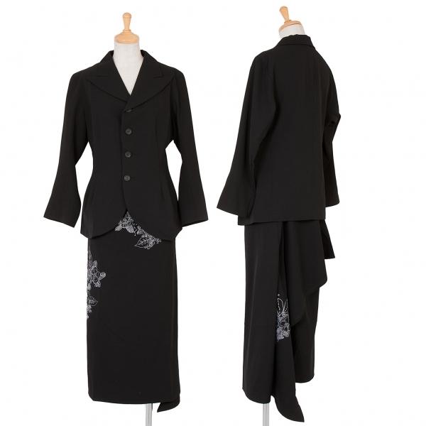 ワイズY's ウールギャバウエストシェイプセットアップスーツ 黒2・3【中古】