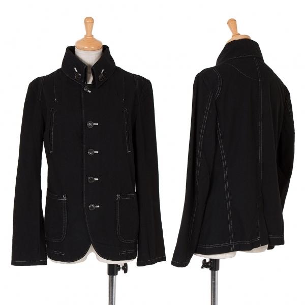 ワイズY's 起毛ウールステッチデザインジャケット 黒2【中古】 【レディース】