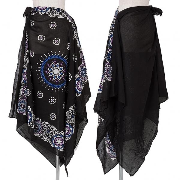 新品!ワイズY's コットンパレオスカート 黒白紫他2 【レディース】