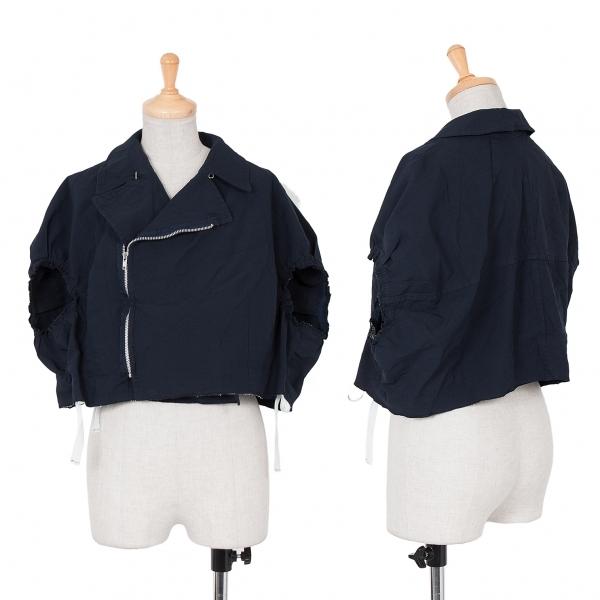 コムコム コムデギャルソンCOMME des GARCONS ポリライダースポンチョジャケット 紺S【中古】 【レディース】