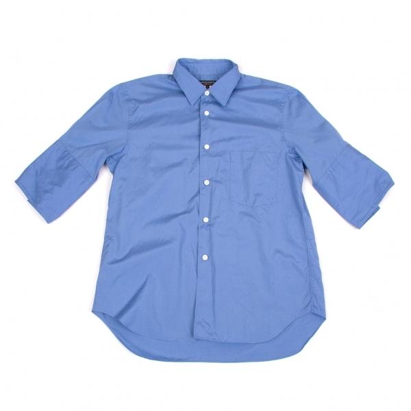 コムデギャルソン オムプリュスCOMME des GARCONS HOMME PLUS ビッグカフスコットン半袖シャツ ブルーS【中古】 【メンズ】