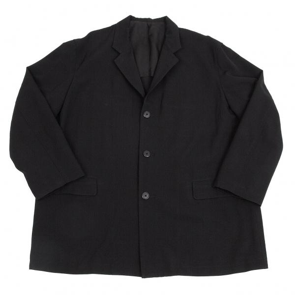 ワイズフォーメンY's for men ウールギャバビッグシルエットジャケット 黒S【中古】 【メンズ】