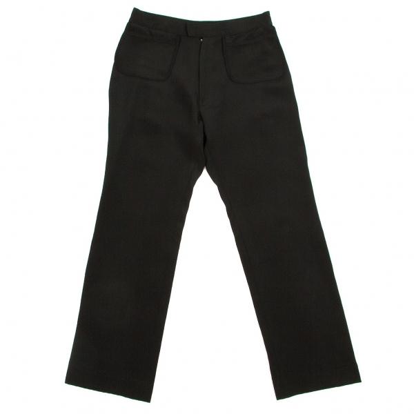ヨウジヤマモト ファムYohji Yamamoto FEMME シルクアウトポケットパンツ 黒1【中古】