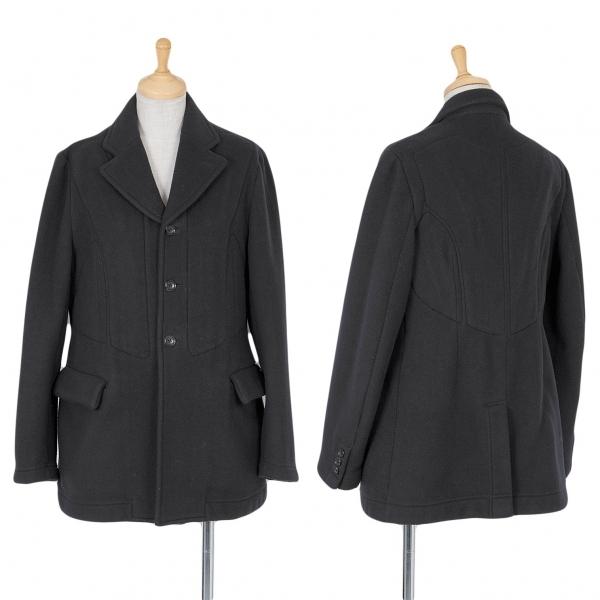 コムデギャルソンCOMME des GARCONS 背裏ポケットデザインフリースジャケット 黒XS【中古】
