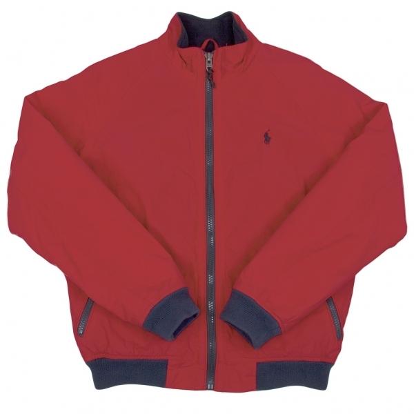 ポロラルフローレンPOLO RALPH LAUREN 裏フリーススイングトップジャケット 赤紺M【中古】 【メンズ】