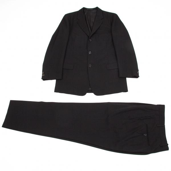 ヨウジヤマモト コスチュームドオムYohji Yamamoto COSTUME D' HOMME ウールギャバテーラードセットアップスーツ 黒3【中古】 【メンズ】