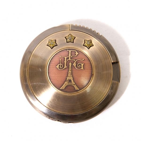 ジャンポールゴルチエJean Paul GAULTIER 円盤型ライター ゴールド【中古】