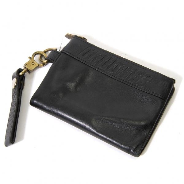 ジャンポールゴルチエJean Paul GAULTIER レザージップ二つ折り財布 黒【中古】