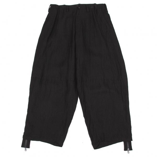 ヨウジヤマモト ファムYohji Yamamoto FEMME リネンレーヨン裾ジップデザインパンツ 黒3【中古】 【レディース】