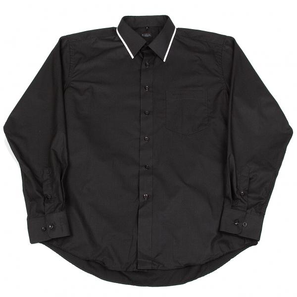 ポールスミスPaul Smith パイピングカラーシャツ 黒白17【中古】 【メンズ】