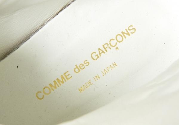 コムデギャルソンCOMME des GARCONS レザーバイカーブーツ 白24レディースrBdeWCxo