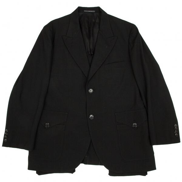 ワイズフォーメンY's for men ウールトロフラップポケットデザインジャケット 黒4【中古】 【メンズ】