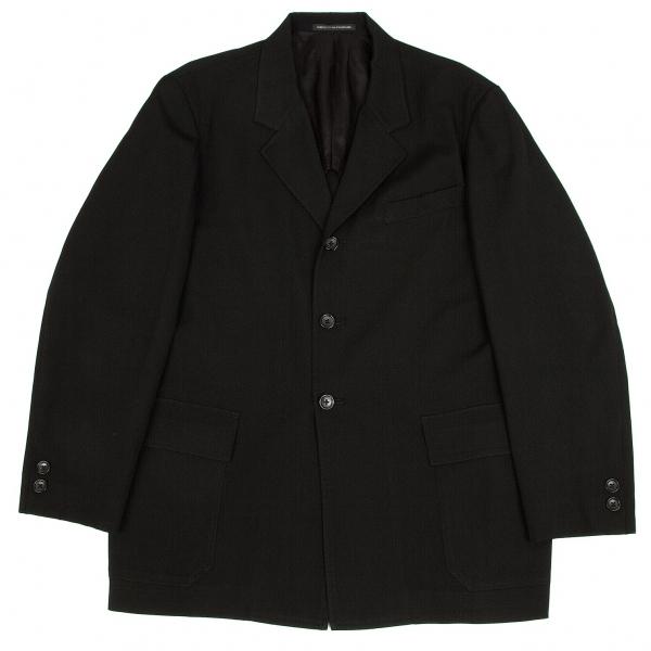 ワイズフォーメンY's for men ウールギャバフラップポケットジャケット 黒3【中古】 【メンズ】