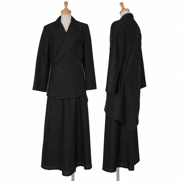 ヨウジヤマモト ファムYohji Yamamoto FEMME モヘヤコットン変形セットアップスーツ 黒3.1【中古】