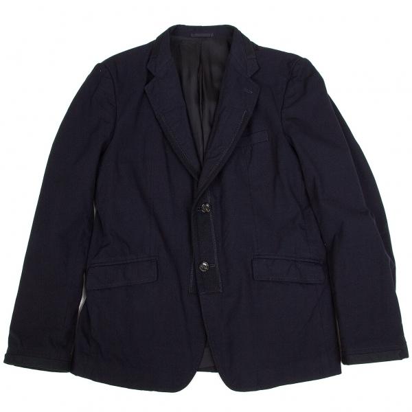 コムデギャルソン オムCOMME des GARCONS HOMME ナイロン製品染め補強切替デザインジャケット 紺L【中古】