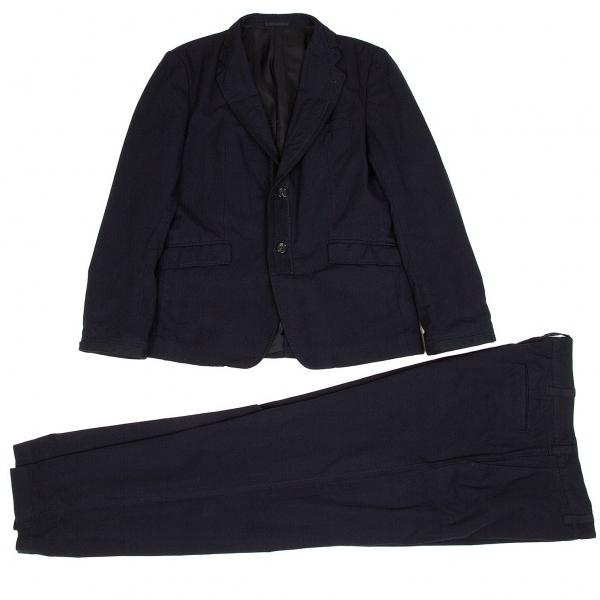 コムデギャルソン オムCOMME des GARCONS HOMME ナイロン製品染めセットアップスーツ 紺L【中古】
