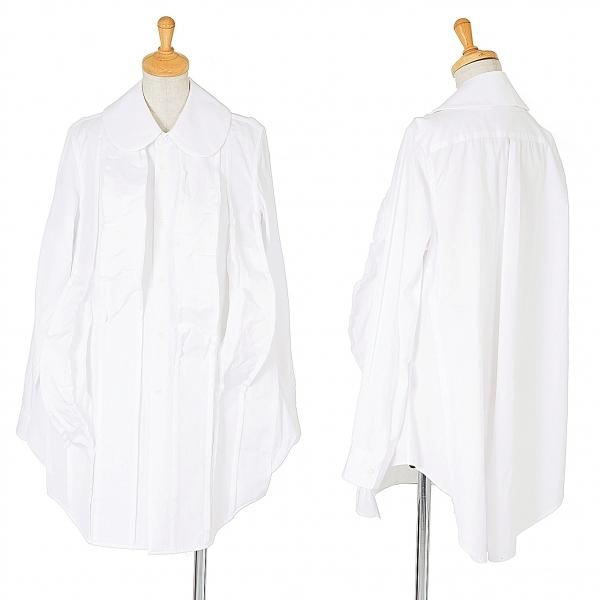 コムデギャルソンCOMME des GARCONS 立体チューブデザインシャツ 白M位【中古】