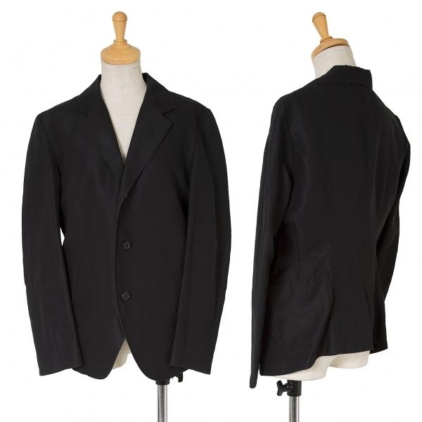 ワイズY's コットンリネンバックポケットデザインジャケット 黒2【中古】