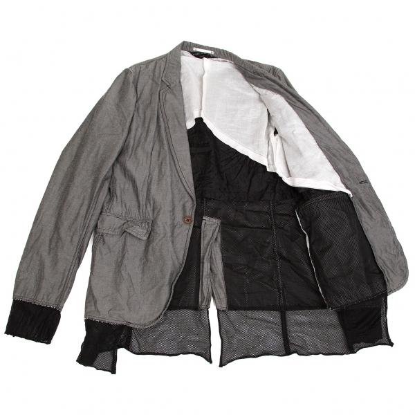 コムデギャルソン オムプリュスCOMME des GARCONS HOMME PLUS メッシュレイヤードデザインジャケット 黒L【中古】 【メンズ】