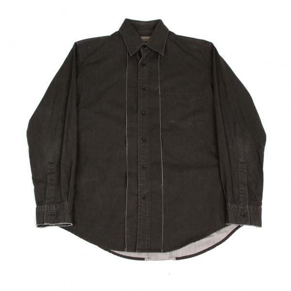 ワイズフォーメンY's for men 切替デザインシャツ 墨黒M位【中古】 【メンズ】