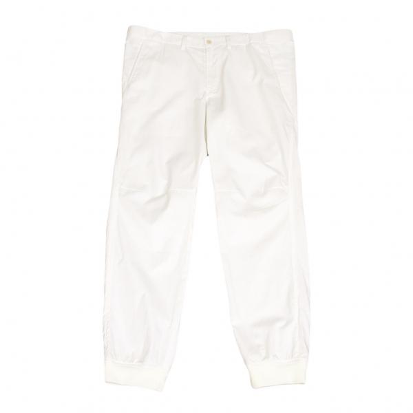 イッセイミヤケ メンISSEY MIYAKE MEN 裾リブ切替デザインパンツ 白3【中古】 【メンズ】