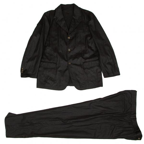 コムデギャルソン オムCOMME des GARCONS HOMME ナイロン3Bセットアップスーツ 黒L【中古】