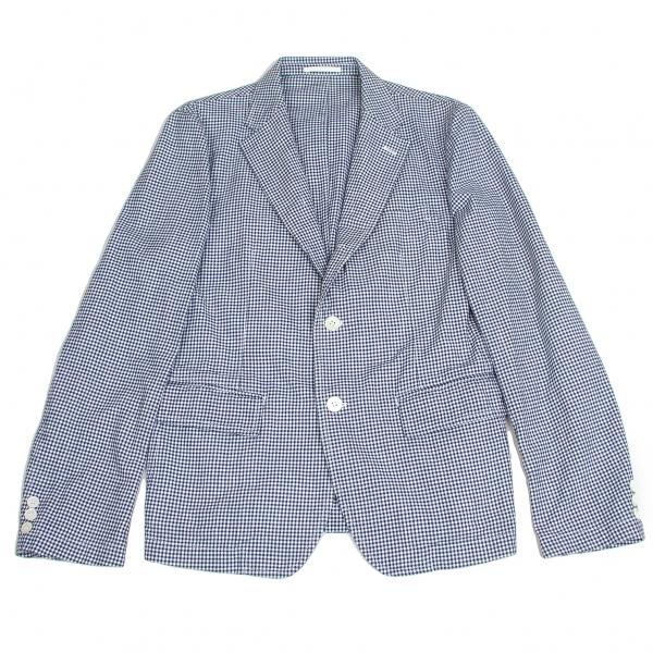 コムデギャルソン オムCOMME des GARCONS HOMME コットンギンガムチェックジャケット 紺白L【中古】 【メンズ】