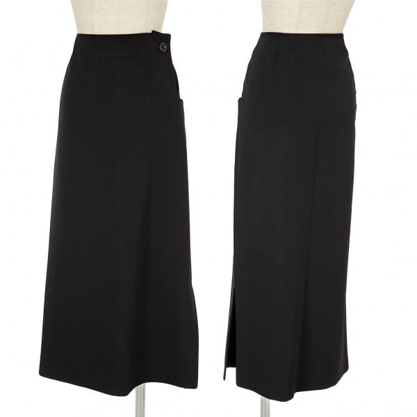 ワイズY's ウールギャバロングスカート 黒2【中古】 【レディース】