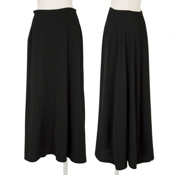 ワイズY's ウールギャバデザインロングスカート 黒M【中古】 【レディース】