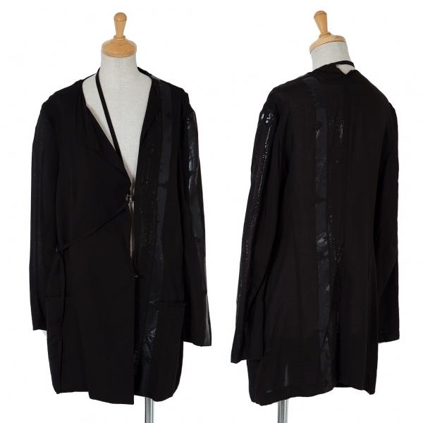 ワイズ レッドレーベルY's red Label キュプララインプリントベルトデザインジャケット 黒3【中古】