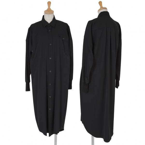 ワイズY's ドルマンウールギャバシャツコート 黒3【中古】