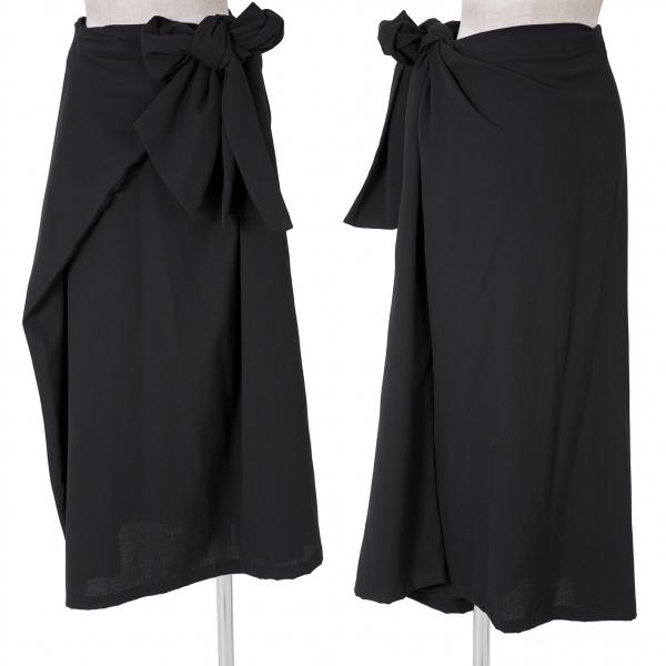 ヨウジヤマモト ファムYohji Yamamoto FEMME ウールギャバ袋デザインスカート 黒SS【中古】 【レディース】