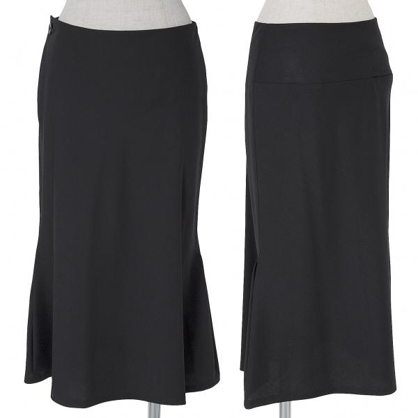 ヨウジヤマモトノアール Yohji Yamamoto NOIR ウールデザインロングスカート 黒2【中古】
