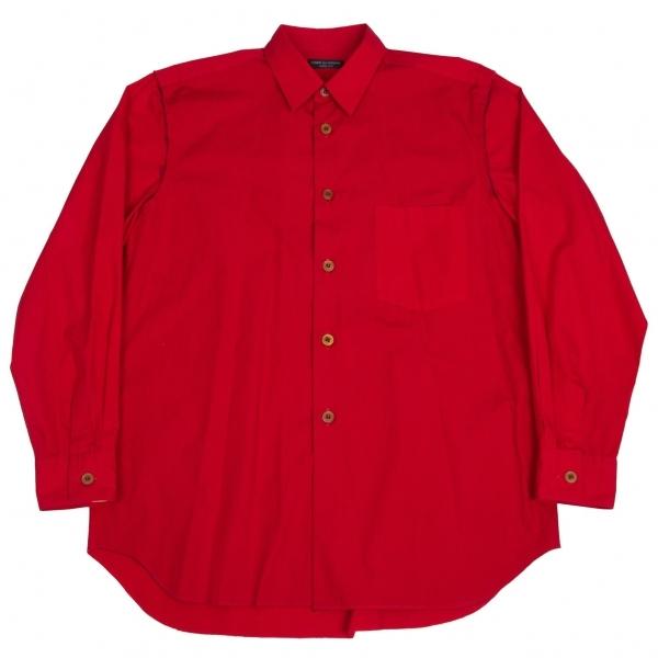 コムデギャルソン オムプリュスCOMME des GARCONS HOMME PLUS コットン断ち切り替えシャツ 赤M位【中古】 【メンズ】