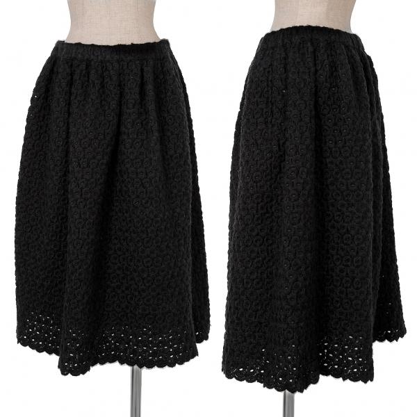 コムコム コムデギャルソンCOMME des GARCONS COMME des GARCONS 刺繍デザインスカート 黒S【中古】