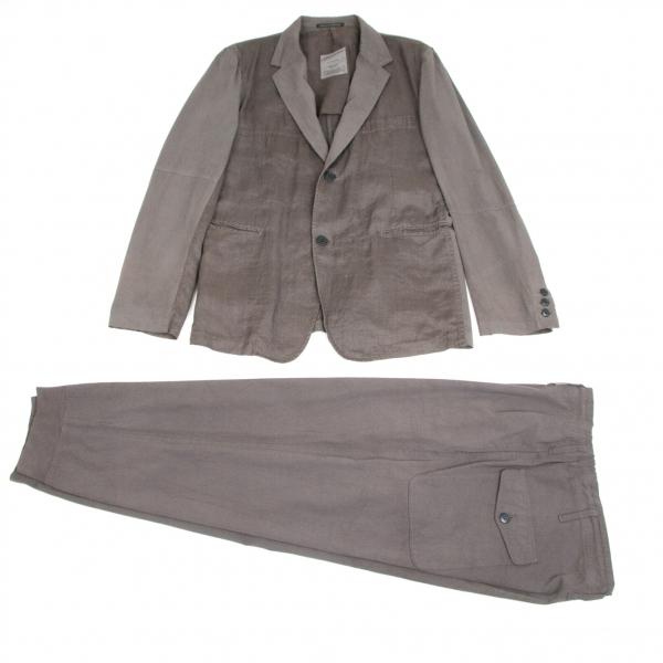 ヨウジヤマモト プールオムYohji Yamamoto POUR HOMME 製品染め切り替えセットアップスーツ グレー3【中古】 【メンズ】