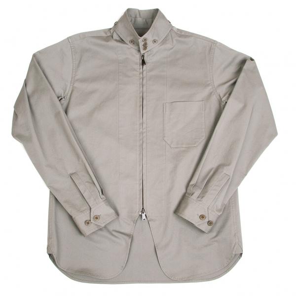 ヨウジヤマモト プールオムYohji Yamamoto POUR HOMME コットンカラーデザインストレッチジップジャケット グレー3【中古】 【メンズ】