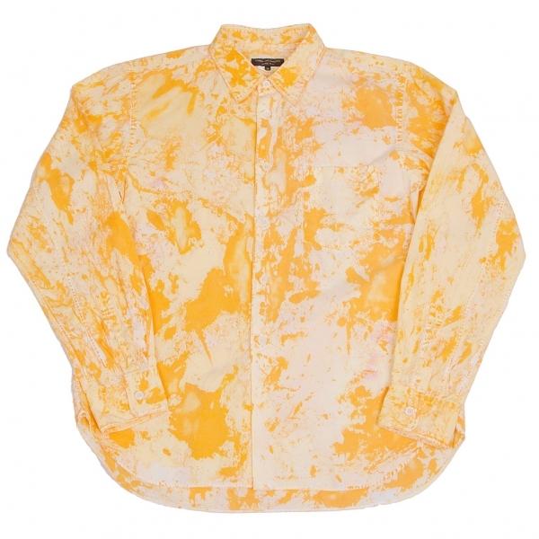 新品!コムデギャルソン オムプリュスCOMME des GARCONS HOMME PLUS タイダイコットンシャツ オレンジXS 【メンズ】